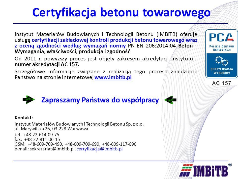 Certyfikacja betonu towarowego