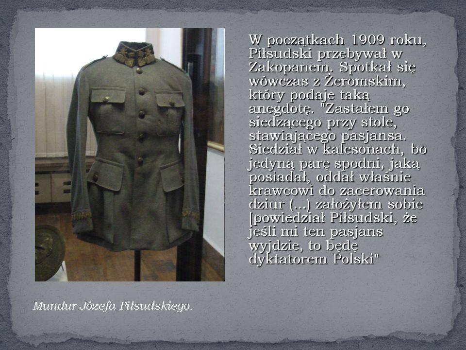 W początkach 1909 roku, Piłsudski przebywał w Zakopanem