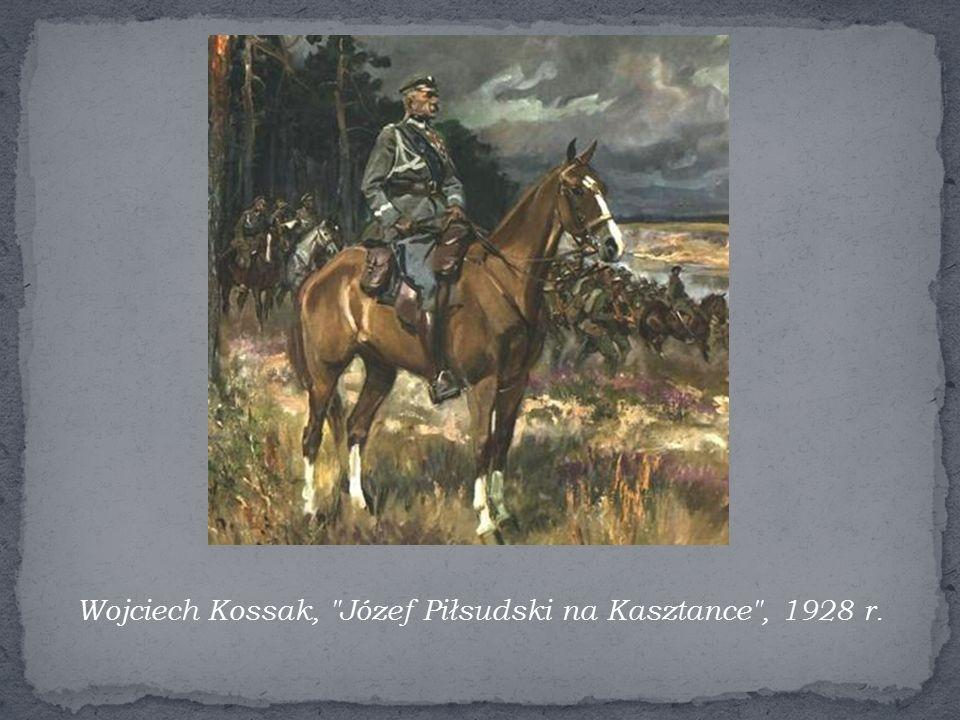Wojciech Kossak, Józef Piłsudski na Kasztance , 1928 r.