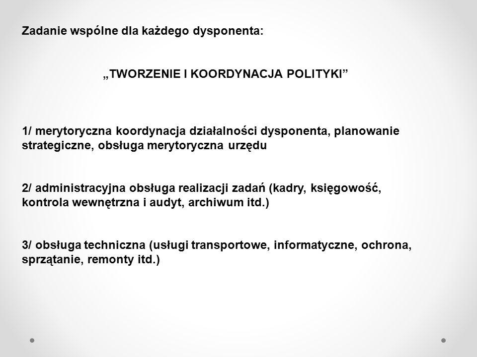 """""""TWORZENIE I KOORDYNACJA POLITYKI"""