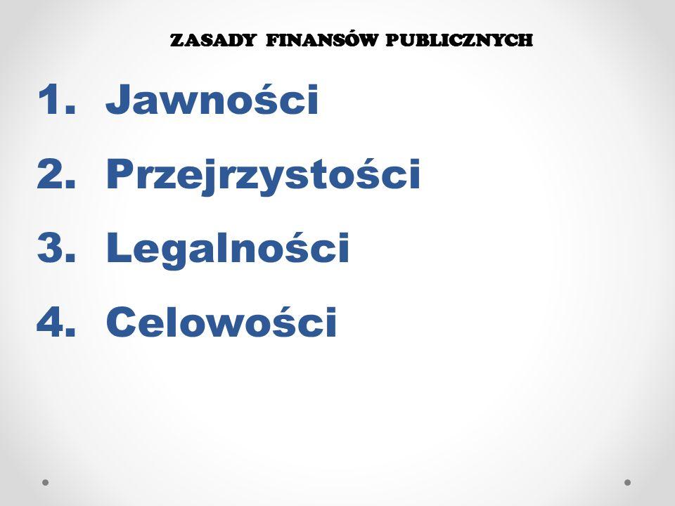 ZASADY FINANSÓW PUBLICZNYCH