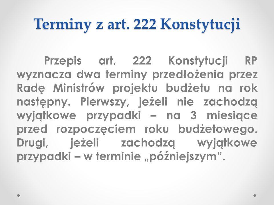 Terminy z art. 222 Konstytucji