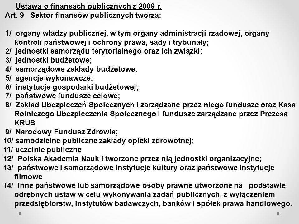 Ustawa o finansach publicznych z 2009 r.