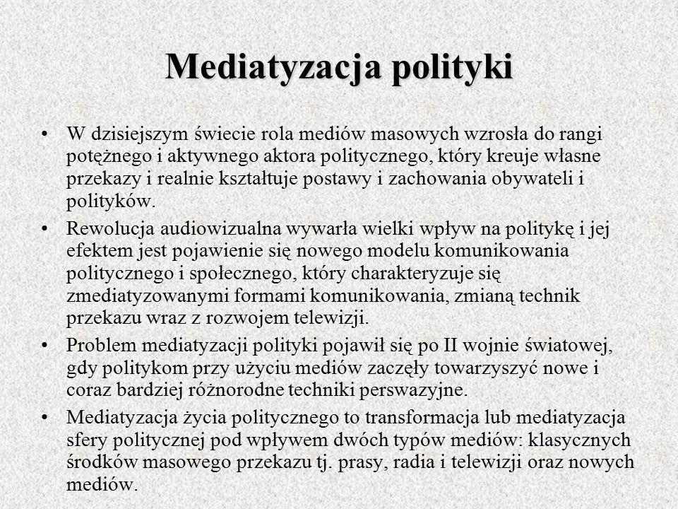 Mediatyzacja polityki