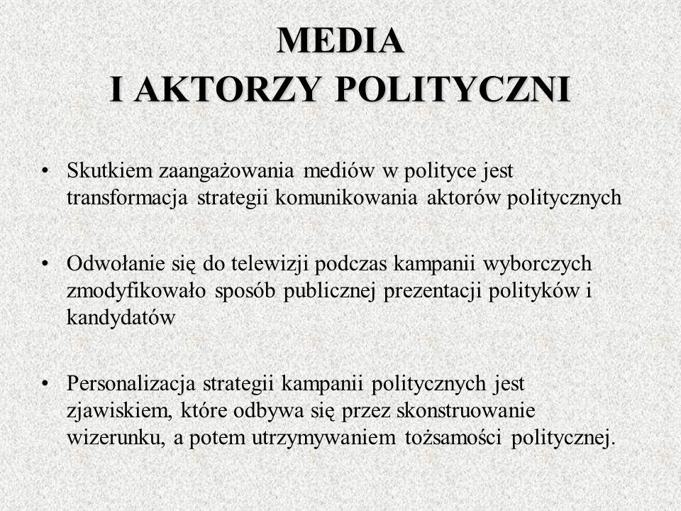 MEDIA I AKTORZY POLITYCZNI