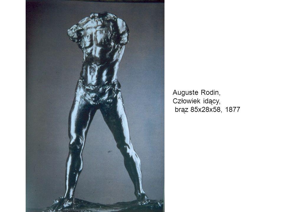 Auguste Rodin, Człowiek idący, brąz 85x28x58, 1877
