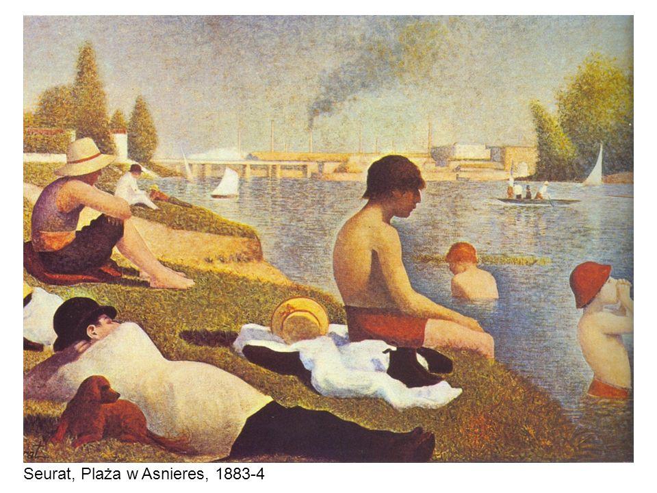 Seurat, Plaża w Asnieres, 1883-4