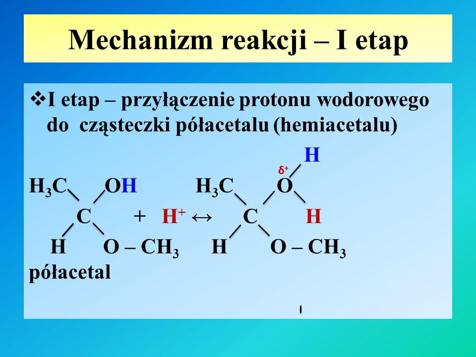 Mechanizm reakcji – I etap