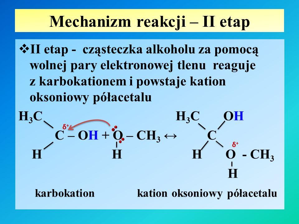 Mechanizm reakcji – II etap