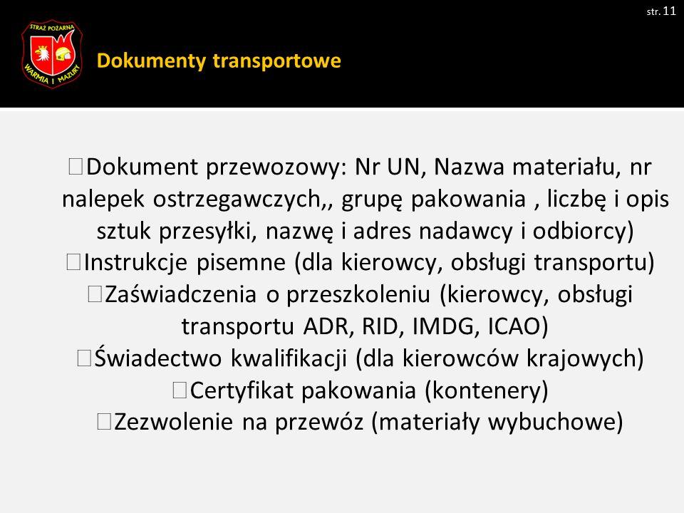 Dokumenty transportowe