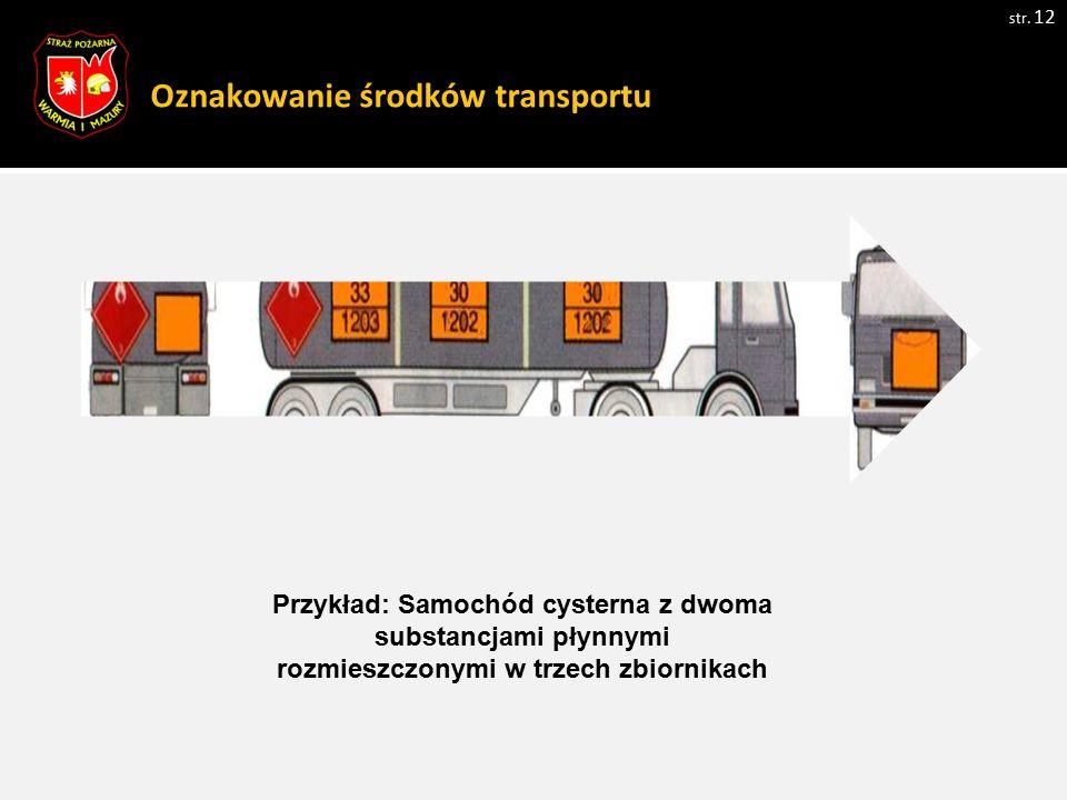 Oznakowanie środków transportu