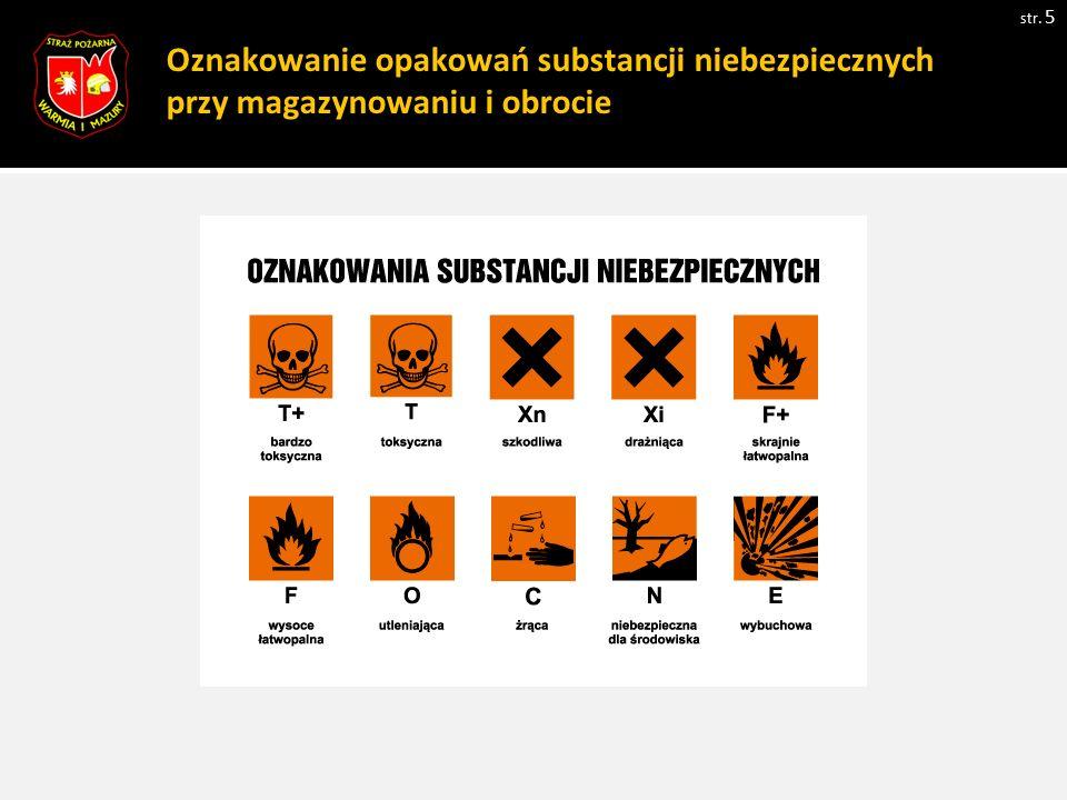 Oznakowanie opakowań substancji niebezpiecznych przy magazynowaniu i obrocie