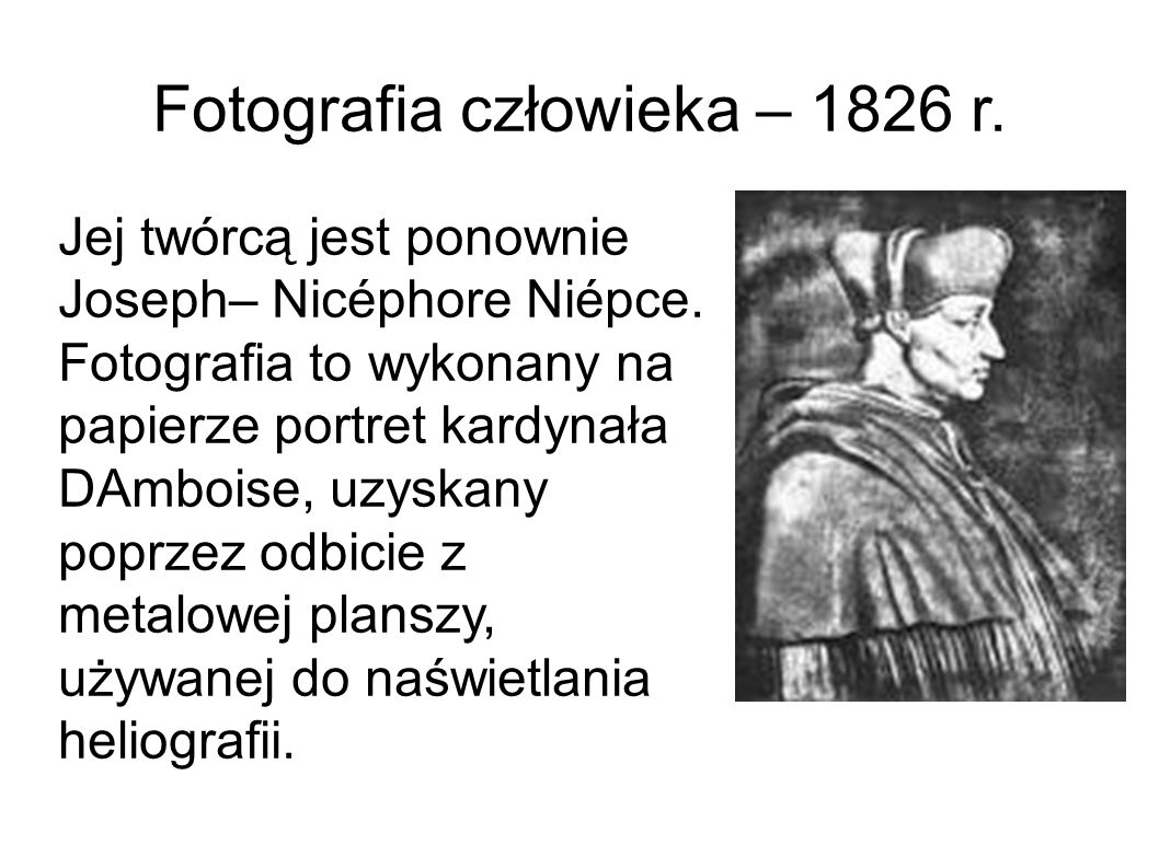 Fotografia człowieka – 1826 r.