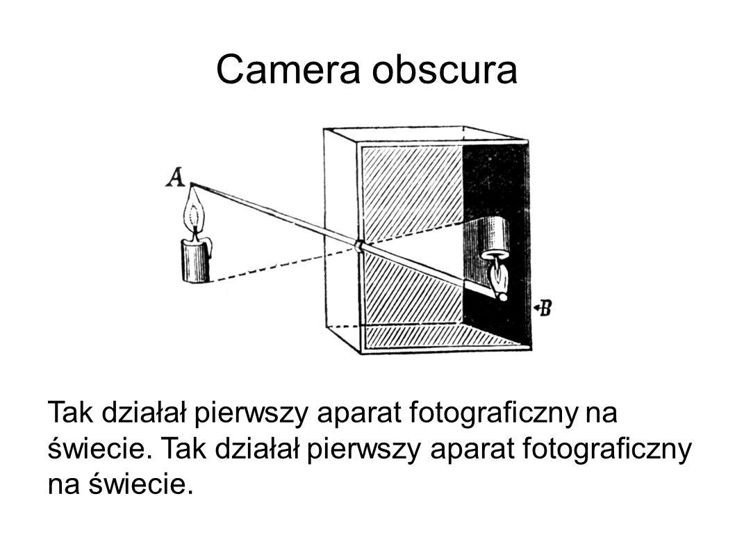 Camera obscura Tak działał pierwszy aparat fotograficzny na świecie.