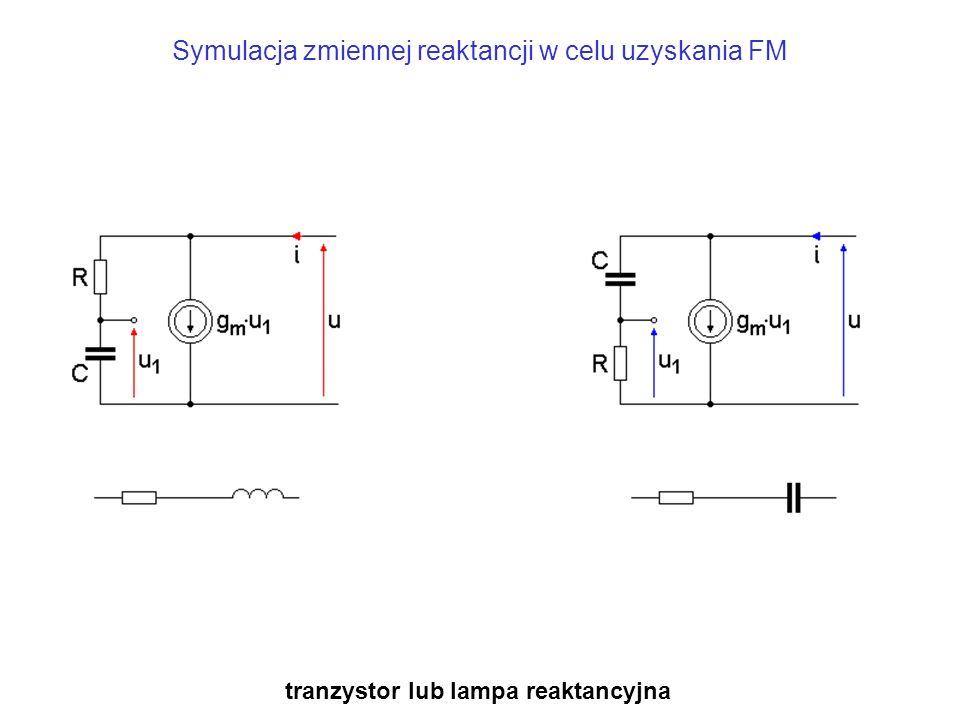 Symulacja zmiennej reaktancji w celu uzyskania FM