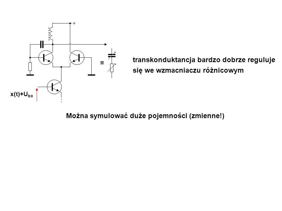 transkonduktancja bardzo dobrze reguluje się we wzmacniaczu różnicowym