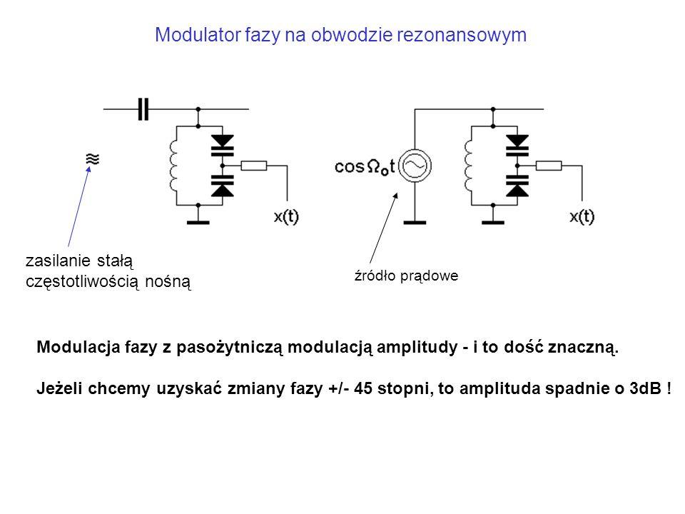 Modulator fazy na obwodzie rezonansowym
