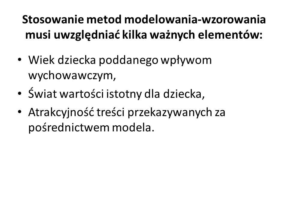 Stosowanie metod modelowania-wzorowania musi uwzględniać kilka ważnych elementów: