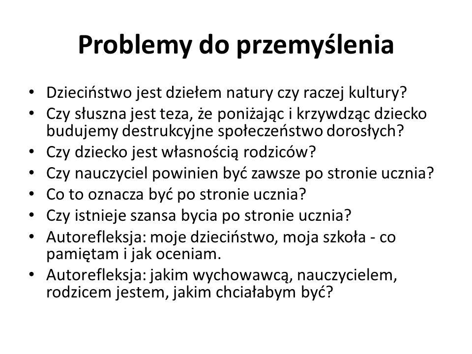 Problemy do przemyślenia