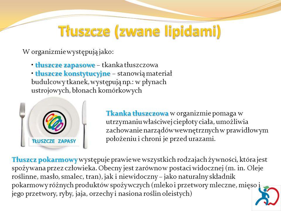 Tłuszcze (zwane lipidami)