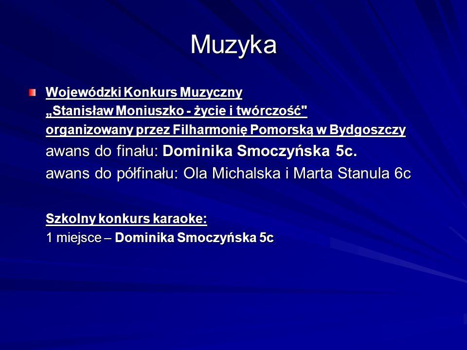 Muzyka awans do finału: Dominika Smoczyńska 5c.