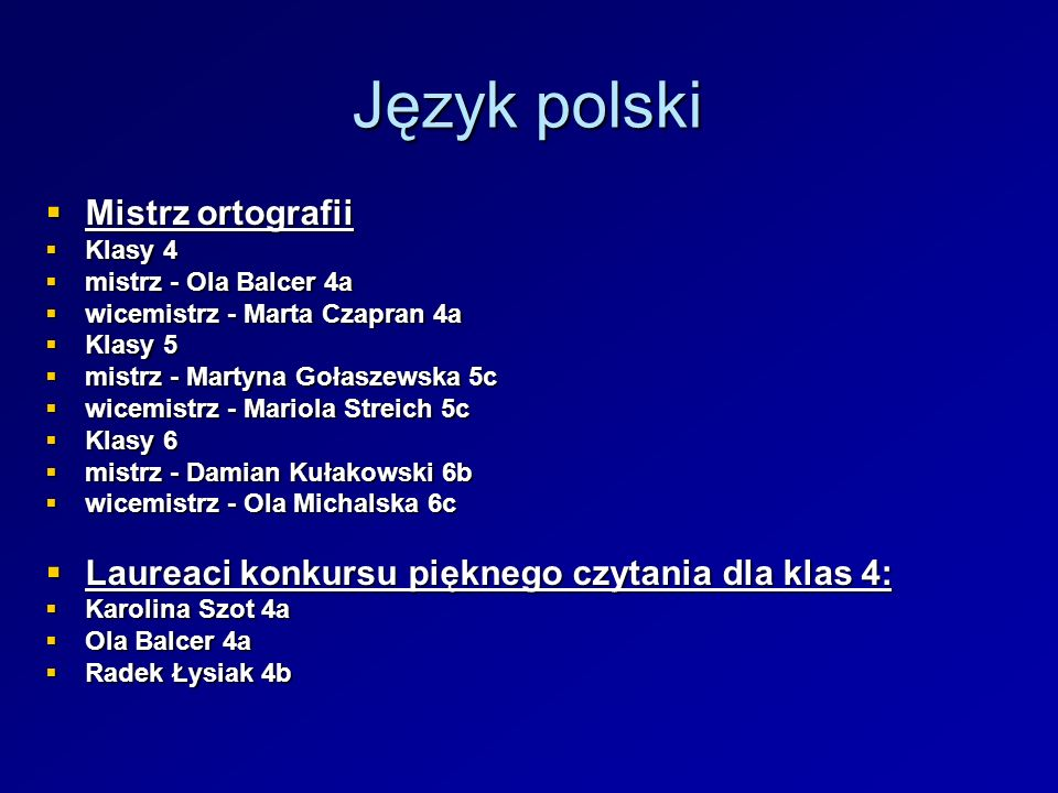 Język polski Mistrz ortografii