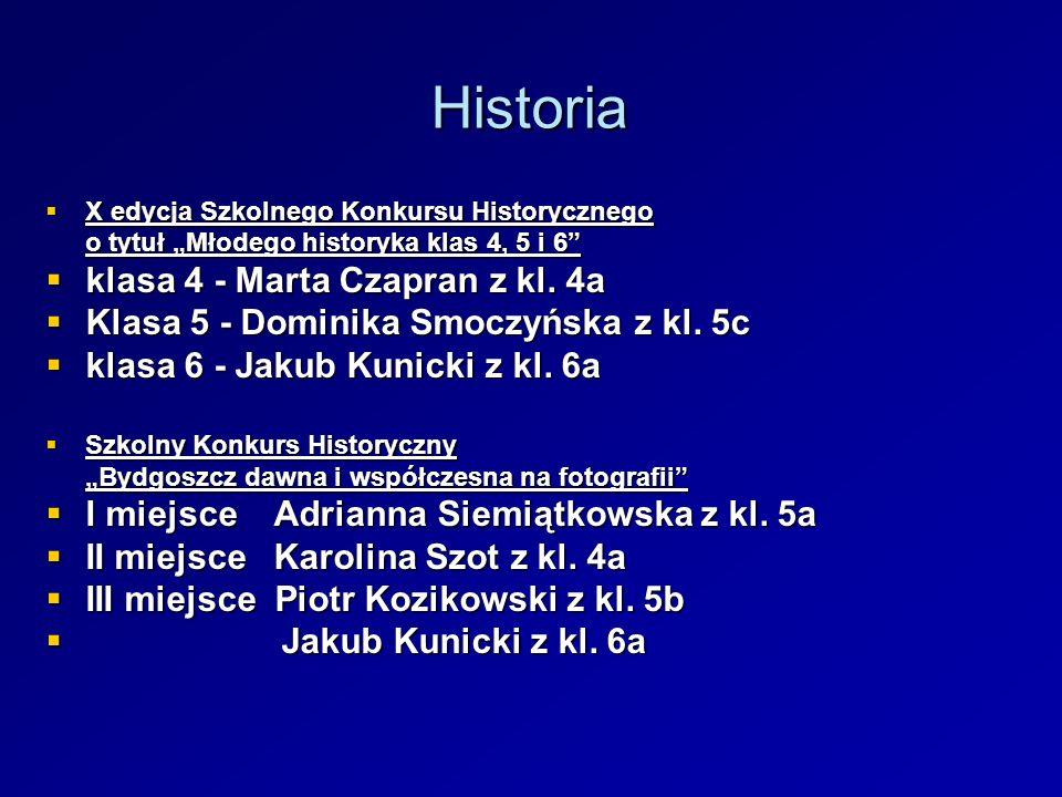 Historia klasa 4 - Marta Czapran z kl. 4a