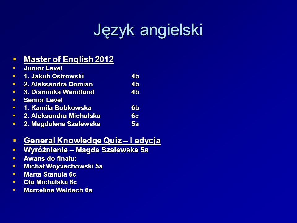 Język angielski Master of English 2012