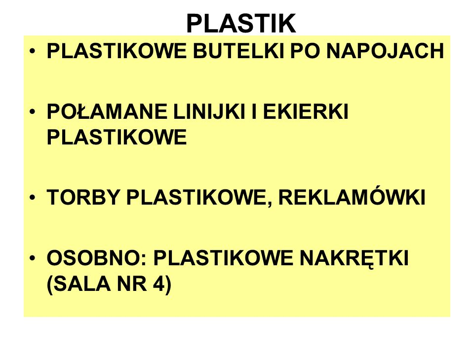 PLASTIK PLASTIKOWE BUTELKI PO NAPOJACH