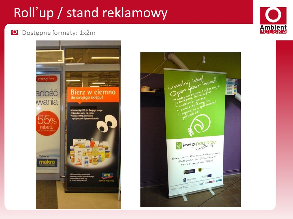 Roll'up / stand reklamowy