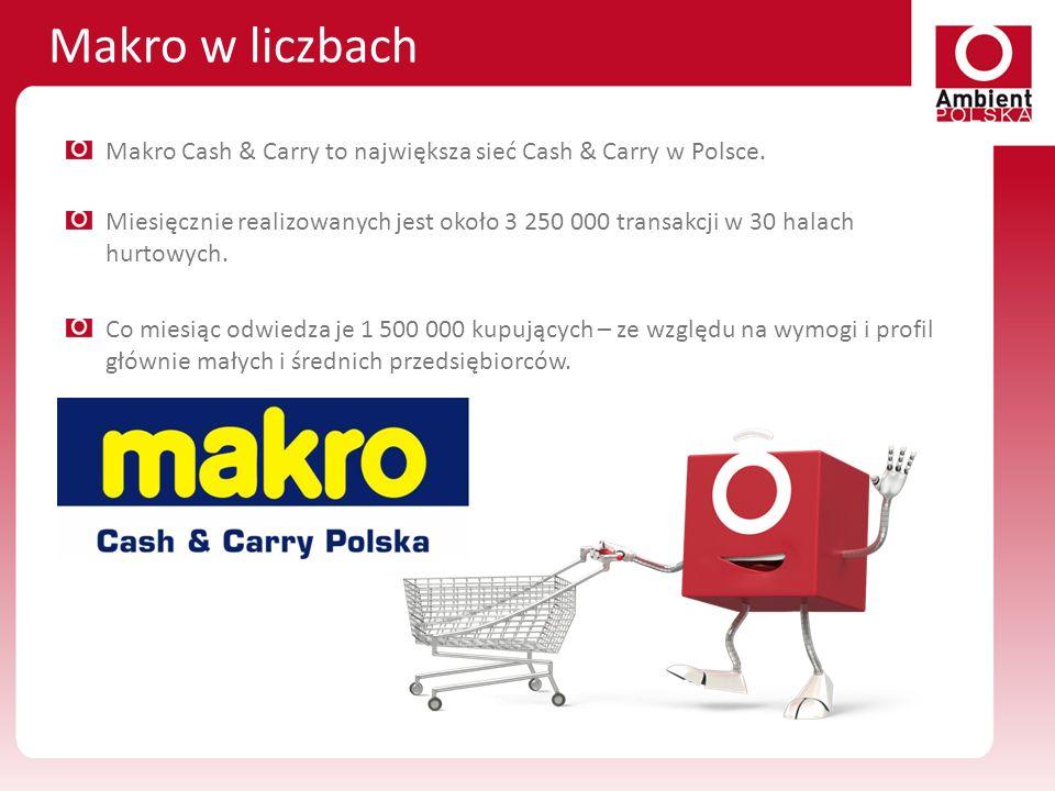 Makro w liczbach Makro Cash & Carry to największa sieć Cash & Carry w Polsce.