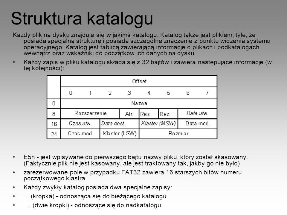 Struktura katalogu