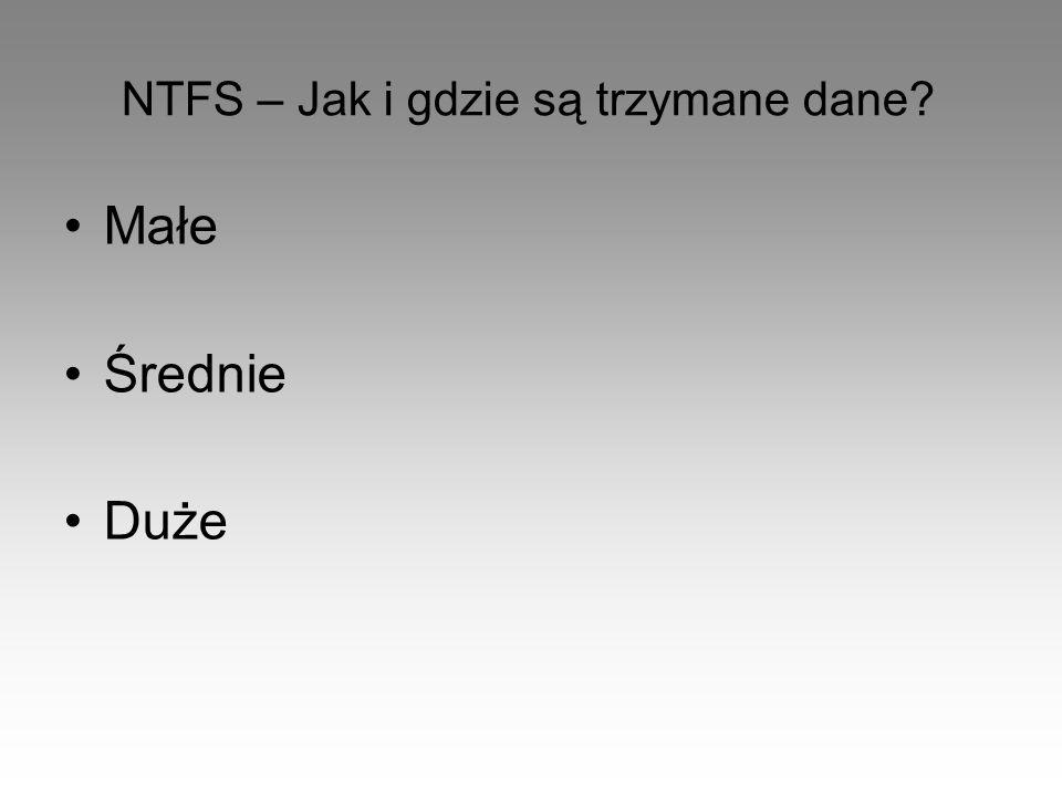NTFS – Jak i gdzie są trzymane dane