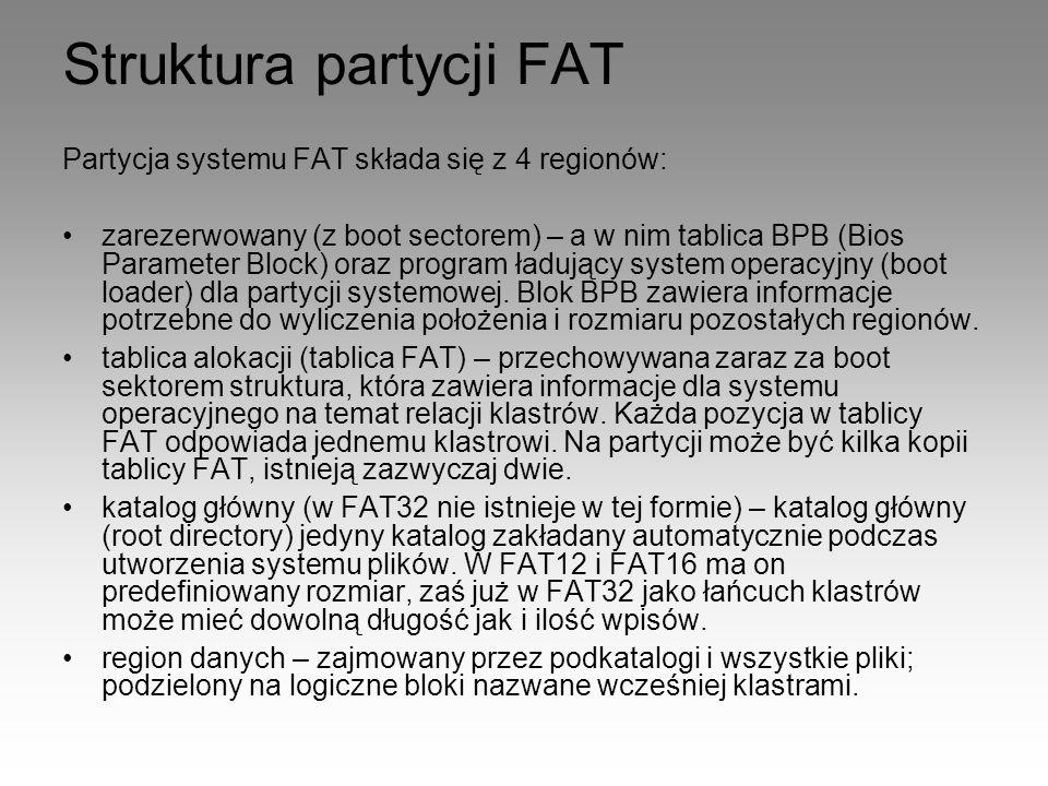 Struktura partycji FAT