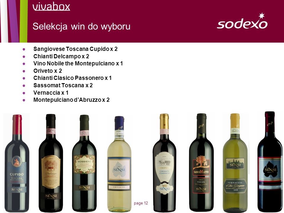 Selekcja win do wyboru Sangiovese Toscana Cupido x 2