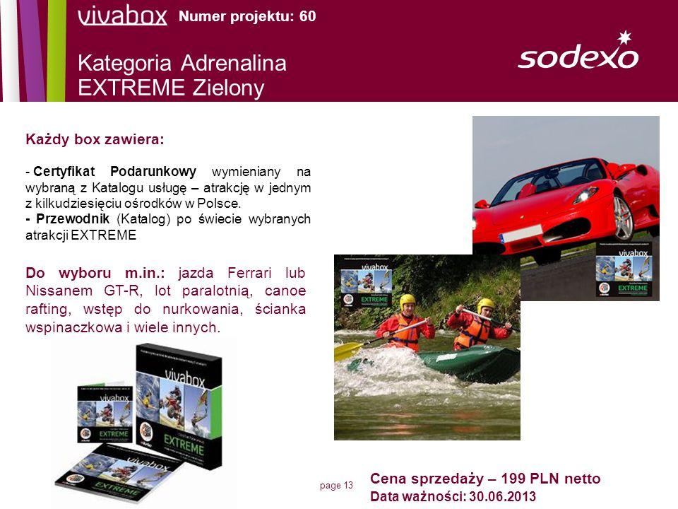 Kategoria Adrenalina EXTREME Zielony