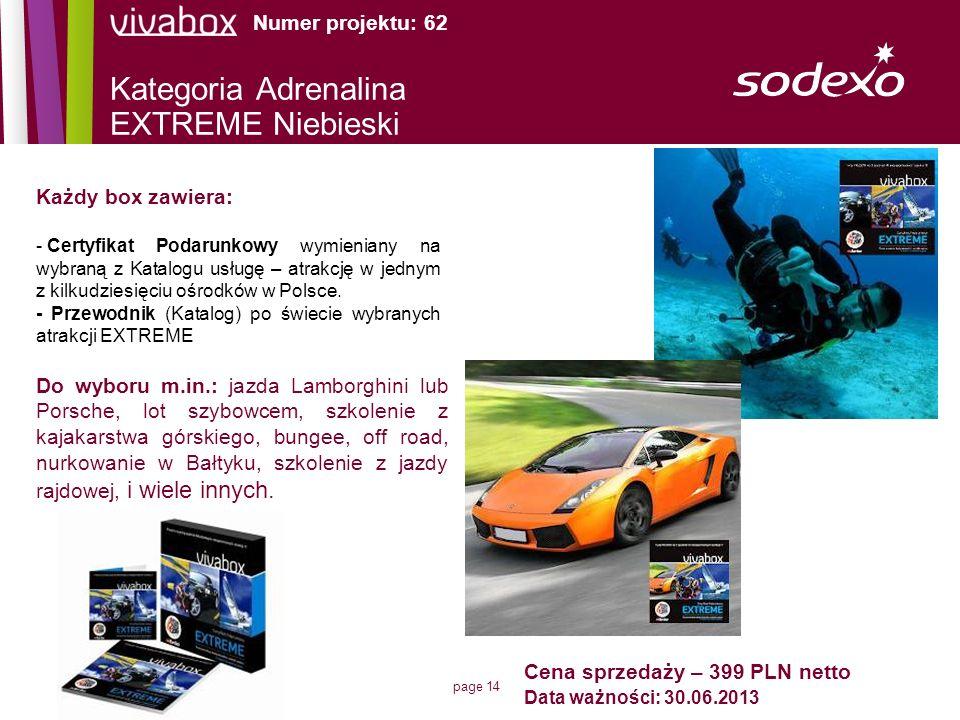 Kategoria Adrenalina EXTREME Niebieski