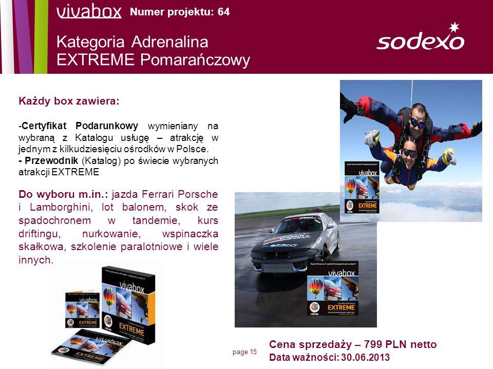 Kategoria Adrenalina EXTREME Pomarańczowy