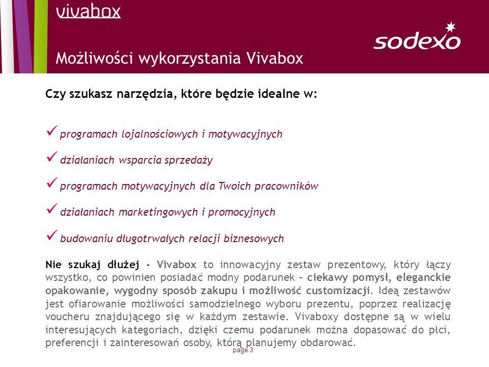 Możliwości wykorzystania Vivabox