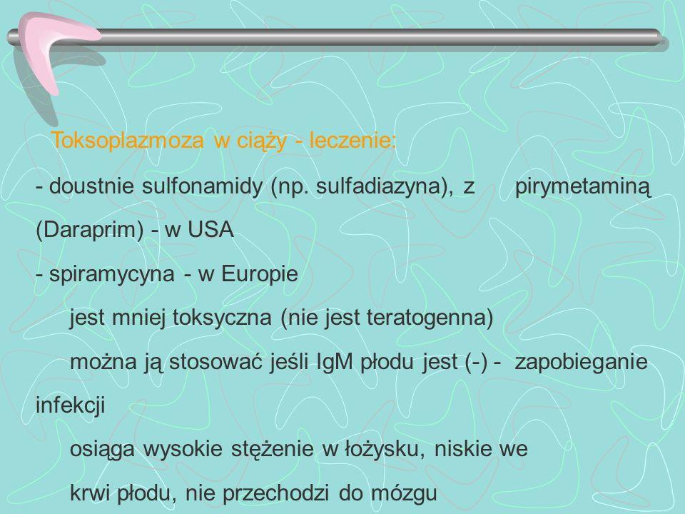 Toksoplazmoza w ciąży - leczenie: