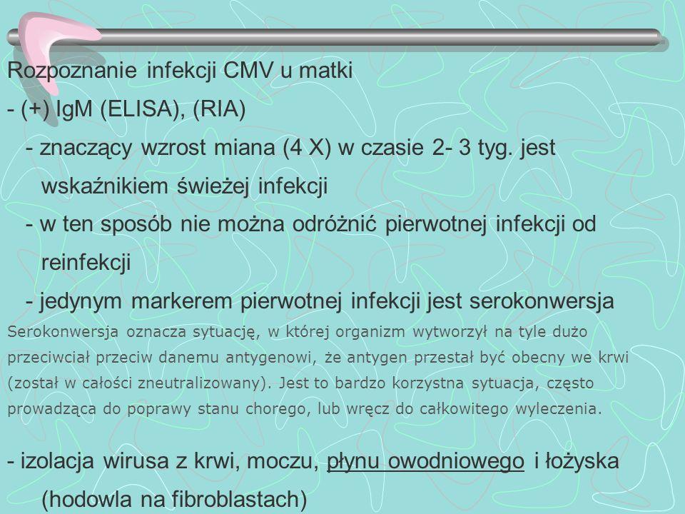Rozpoznanie infekcji CMV u matki