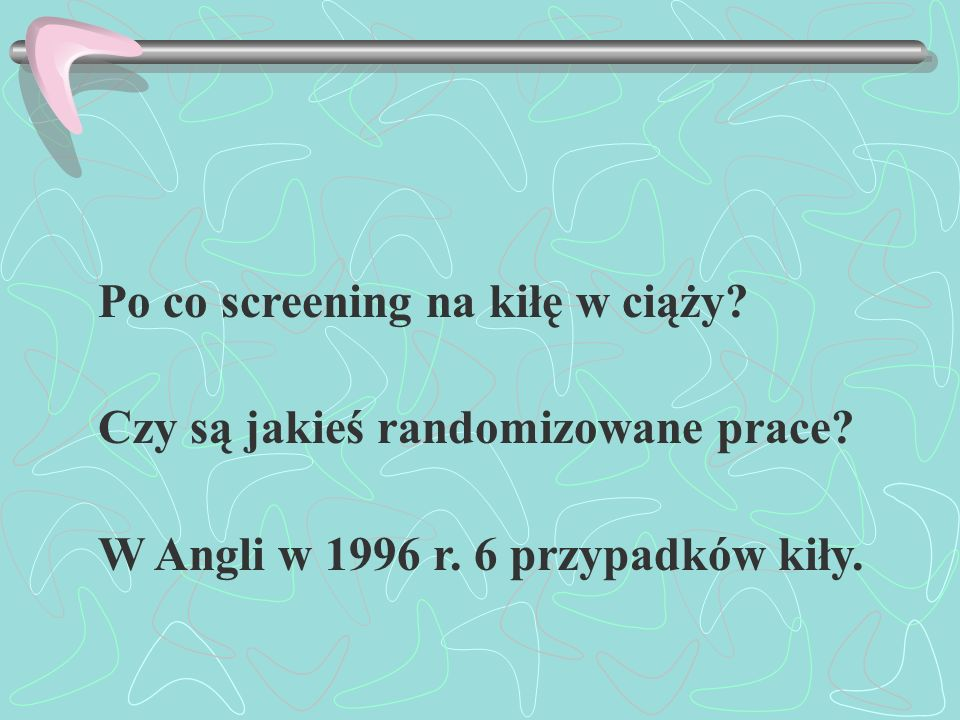 Po co screening na kiłę w ciąży