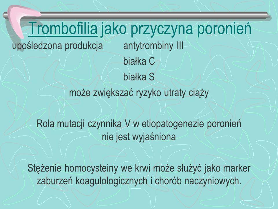 Trombofilia jako przyczyna poronień