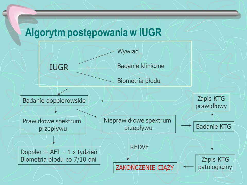 Algorytm postępowania w IUGR