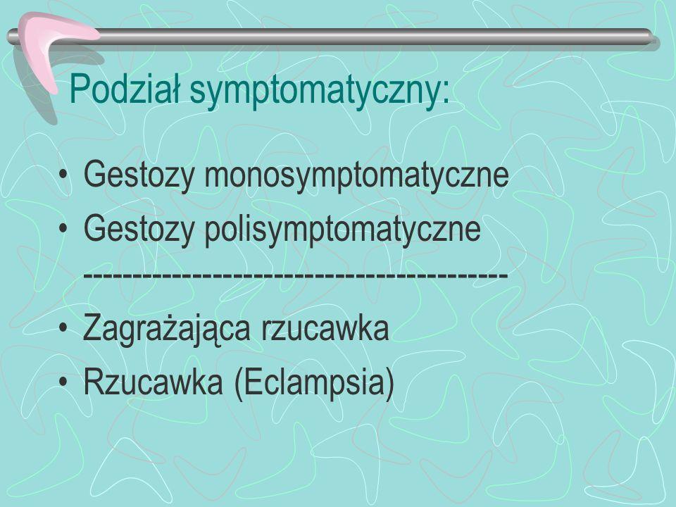 Podział symptomatyczny: