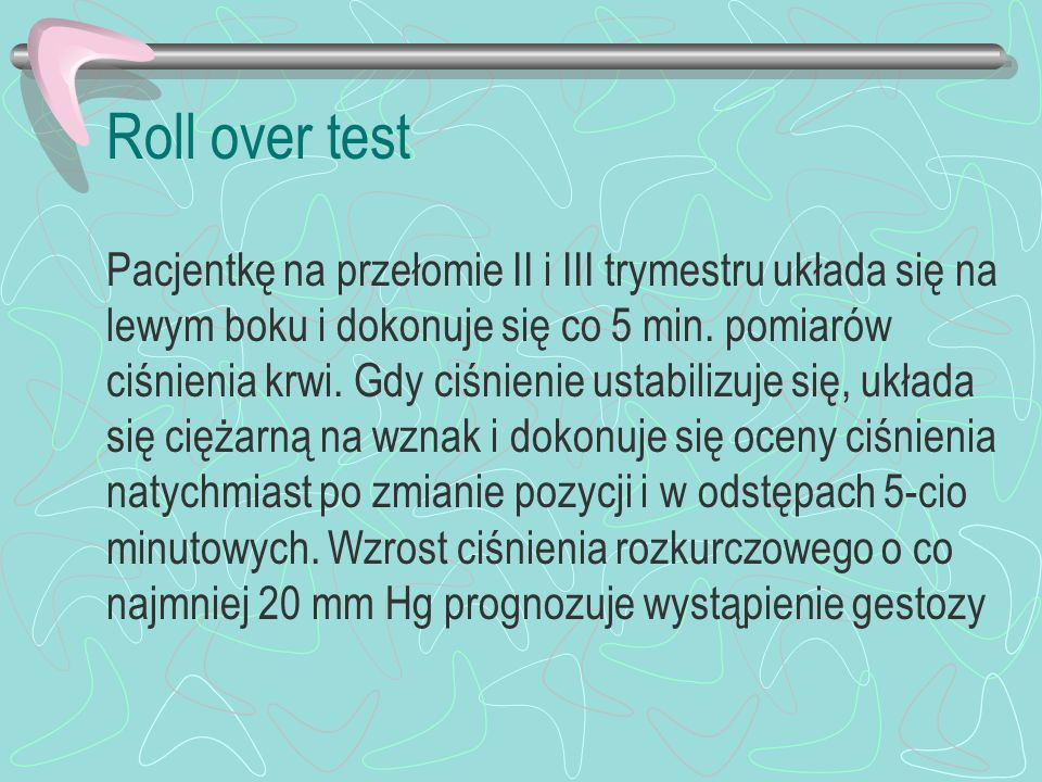 Roll over test