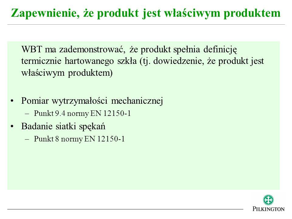 Zapewnienie, że produkt jest właściwym produktem