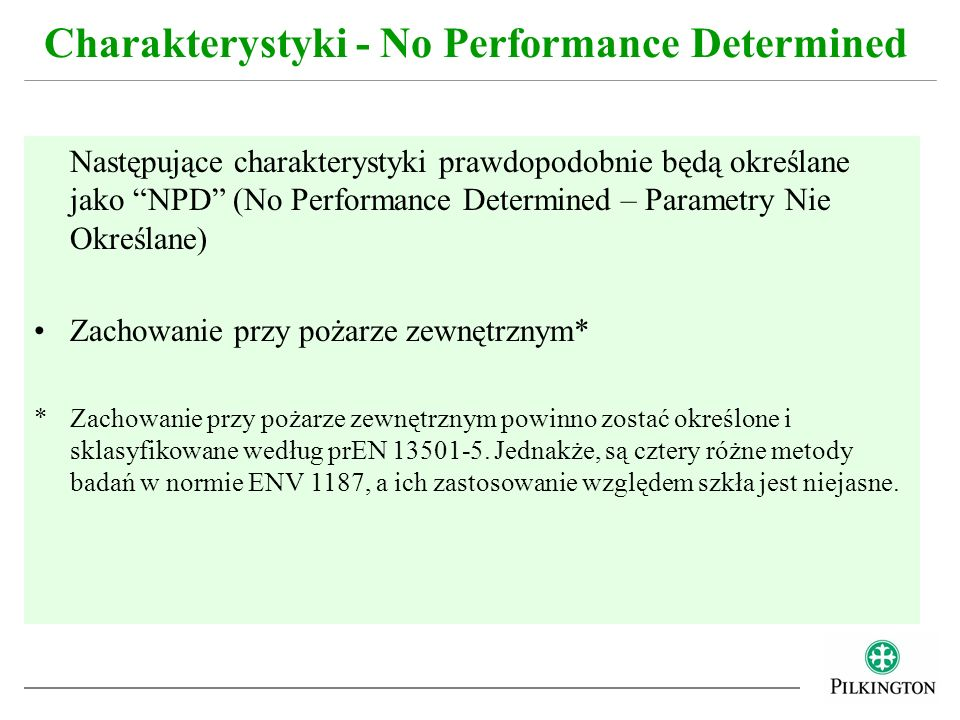 Charakterystyki - No Performance Determined
