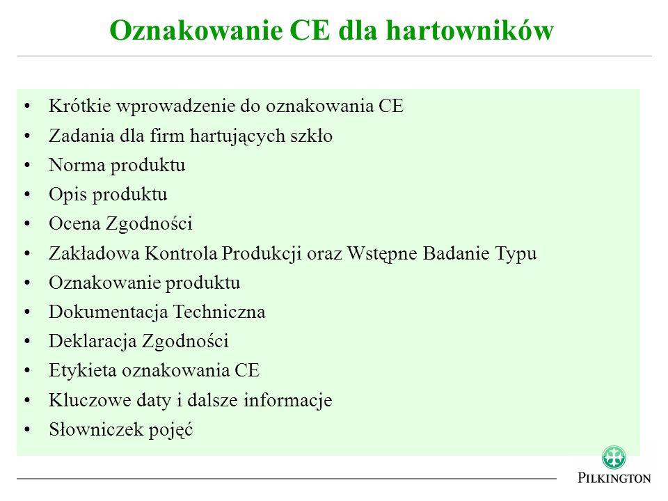 Oznakowanie CE dla hartowników