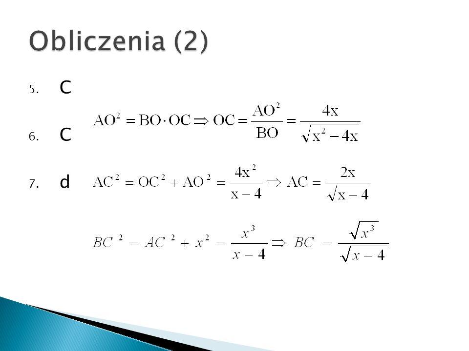 Obliczenia (2) C d